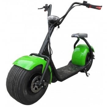 Электроскутер Seev Citycoco Classic 1000W 12Аh 60V Зеленый
