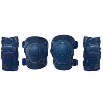 Набор защиты Tech Team Safety line 100, цвет темно-синий (размеры S, M, L)